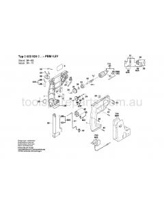 Bosch PBM 4.8 V 0603924037 Spare Parts