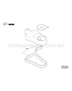 Bosch GDE 68 1600A001G7 Spare Parts