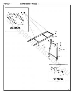 DeWalt DE7037 - Type 4 Spare Parts