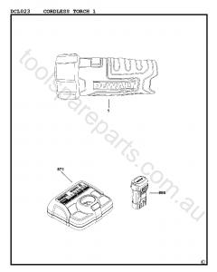 DeWalt DCL023 - Type 1 Spare Parts