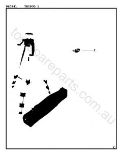 DeWalt DE0841 - Type 1 Spare Parts