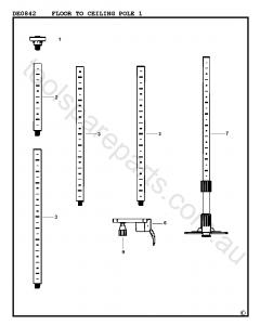 DeWalt DE0842 - Type 1 Spare Parts