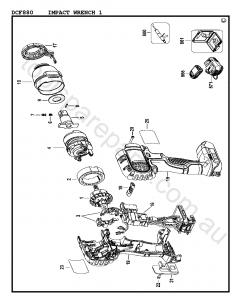 DeWalt DCF880 - Type 1 Spare Parts
