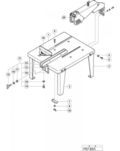 Hitachi CIRCULAR SAW BENCH STAND PS7-BS3 Spare Parts