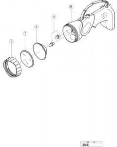 Hitachi 18V CORDLESS TORCHLIGHT UB18D Spare Parts