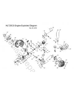 Homelite HLT25CS Spare Parts