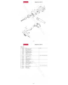 Makita UB1101 Spare Parts