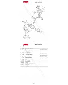 Makita 8391D Spare Parts