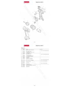 Makita 6261D Spare Parts