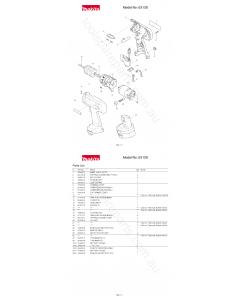 Makita 6313D Spare Parts
