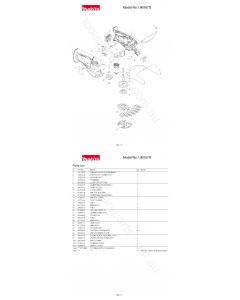 Makita UM167D Spare Parts