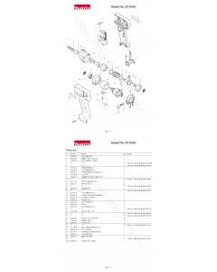 Makita BTD040 Spare Parts