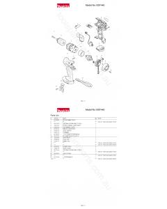 Makita BDF440 Spare Parts