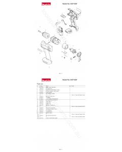 Makita BDF430F Spare Parts