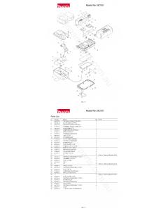 Makita BCV01 Spare Parts
