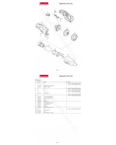 Makita BCL140 Spare Parts