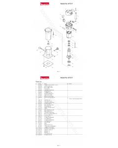 Makita MT371 Spare Parts