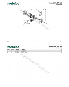 Metabo Hose COIL SA 300 0901063427 10 Spare Parts