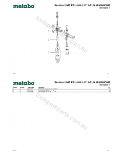 "Metabo Service UNIT FRL-180 1/4"" 2-TLG M.MANOME 0901063869 10 Spare Parts"
