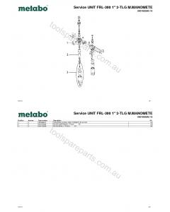 "Metabo Service UNIT FRL-300 1"" 2-TLG M.MANOMETE 0901063842 10 Spare Parts"