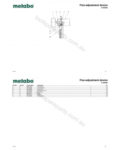 Metabo Fine-adjustment device 31464000 Spare Parts