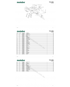 Metabo Saw table 34810000 Spare Parts