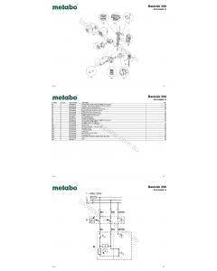 Metabo BasicAir 250 0230125000 10 Spare Parts