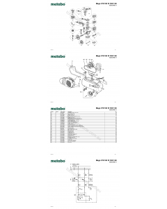 Metabo Mega 370/100 W 230/1/50 0230137000 11 Spare Parts