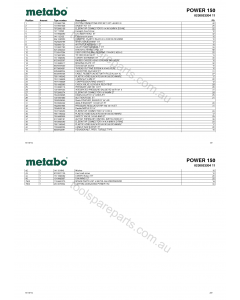 Metabo POWER 150 0230023204 11 Spare Parts