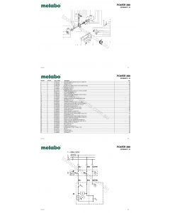 Metabo POWER 260 0230026211 10 Spare Parts
