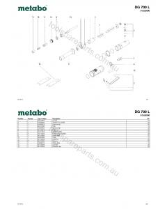 Metabo DG 700 L 01555000 Spare Parts