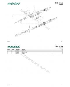 Metabo DKS 10 Set 01560000 Spare Parts