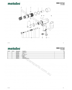 Metabo DMH 30 Set 04115000 Spare Parts