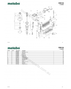 Metabo DSN 50 01568000 Spare Parts