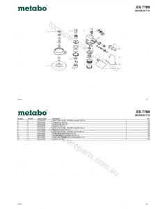 Metabo ES 7700 0901061017 10 Spare Parts