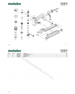 Metabo KG 80/16 0901054681 10 Spare Parts