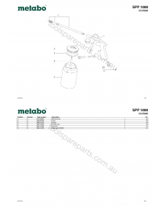 Metabo SPP 1000 01570000 Spare Parts