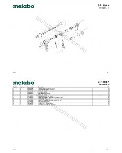 Metabo SR1250 K 0901063184 10 Spare Parts
