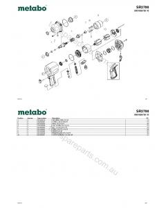 Metabo SR2700 0901059730 10 Spare Parts
