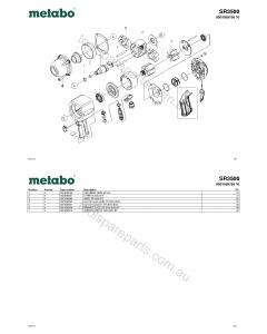 Metabo SR3500 0901059756 10 Spare Parts
