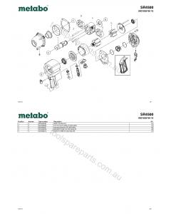 Metabo SR4500 0901059764 10 Spare Parts
