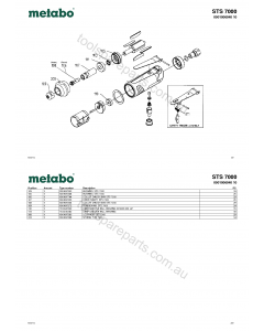 Metabo STS 7000 0901006040 10 Spare Parts
