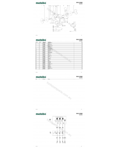 Metabo DS D 9250 09250000 Spare Parts