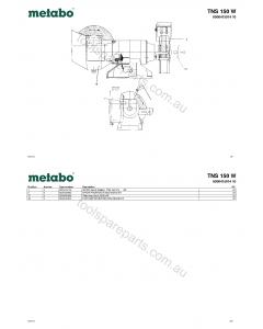 Metabo TNS 150 W 0000415014 10 Spare Parts