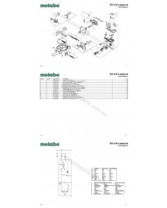 Metabo KS 210 Lasercut 0102101000 10 Spare Parts