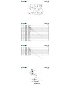 Metabo B E 622 S R+L 00626191 Spare Parts