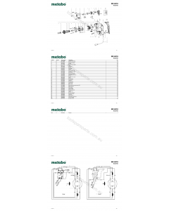 Metabo BE 4010 00555420 Spare Parts