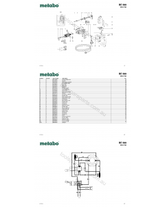 Metabo BE 560 00557190 Spare Parts