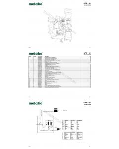 Metabo SPA 1101 0130011012 10 Spare Parts