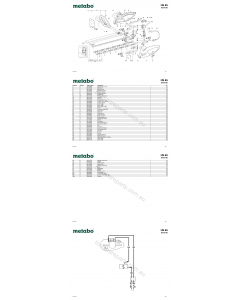 Metabo HS 65 20018180 Spare Parts